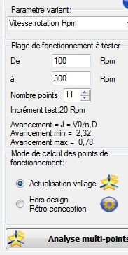 analyse multiple points fonctionnement helice