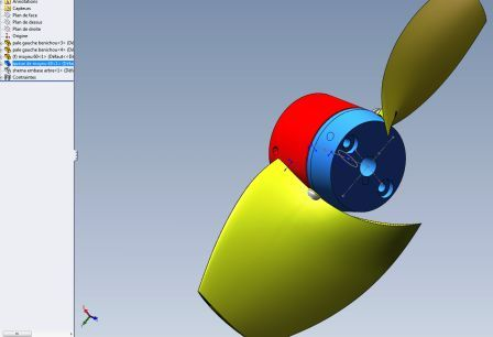 propeller assembly in solidworks