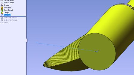 propeller blade assembly in solidworks