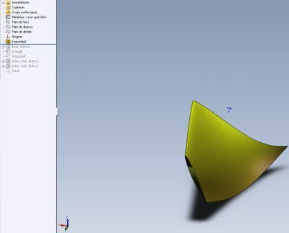 3D propeller blade import igs in solidworks